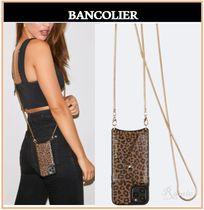 【Bandolier】Gia Side Slot Crossbody iphone◆レオパード柄