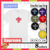 【20AW/FW】SUPREME Cross Box Logo Tee