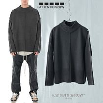 ATTENTIONROW - Half Polarneck line point overfit wool knit