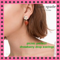 CUTE KATE SPADE*picnic perfect strawberry earring (ピアス)