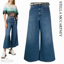 STELLA MCCARTNEY  JEANS CROPPED IN COTONE