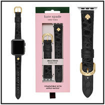 【kate spade】croc embossed leather Apple Watch strap38/40mm