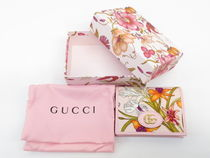 GUCCI フローラ コンパクト ウォレット ピンク #577347