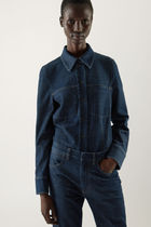 """COS"" 新作☆ORGANIC COTTON RAW DENIM OVERSHIRT(dark blue)"