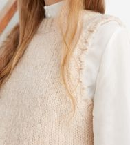 """& Other Stories"" Fuzzy Scallop Knit Vest Beige"