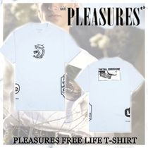 ロス発大人気ブランド!【Pleasures】FREE LIFE T-SHIRT-BLUE