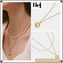 日本未入荷Heiのheart & pearl set necklace
