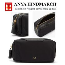 Anya Hindmarch(アニヤハインドマーチ) メイクポーチ 【ANYA HINDMARCH】Girlie Stuff recycled-canvas make-up bag