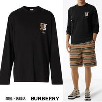 【BURBERRY】コントラスト ロゴ 長袖Tシャツ国内発送・関税込