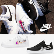 送料・関税込み♪ Nike Air Force 1 Zip Swoosh White&Black
