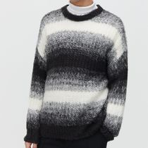 "RESERVED(リザーブド) ニット・セーター ""RESERVED MEN"" RELAXED STRIPE JUMPER GRAY/WHITE/BLACK"
