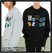 ★I AM NOT A HUMAN BEING★LOGOED PATCHWORK SWEAT SHIRT.S★