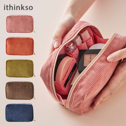 ithinkso メイクポーチ 【ithinkso】DAY MAKE-UP POUCH★コーデュロイ/追跡付