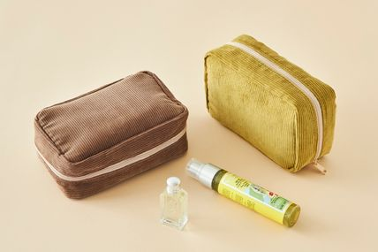 ithinkso メイクポーチ 【ithinkso】DAY MAKE-UP POUCH★コーデュロイ/追跡付(2)