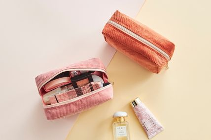 ithinkso メイクポーチ 【ithinkso】DAY MAKE-UP POUCH★コーデュロイ/追跡付(4)