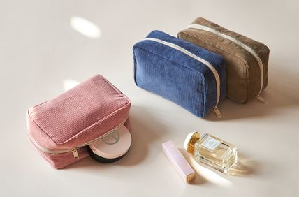 ithinkso メイクポーチ 【ithinkso】DAY MAKE-UP POUCH★コーデュロイ/追跡付(9)