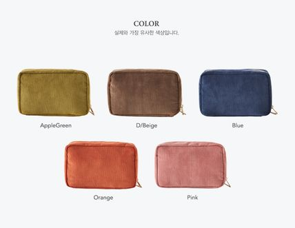 ithinkso メイクポーチ 【ithinkso】DAY MAKE-UP POUCH★コーデュロイ/追跡付(11)