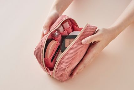 ithinkso メイクポーチ 【ithinkso】DAY MAKE-UP POUCH★コーデュロイ/追跡付(15)