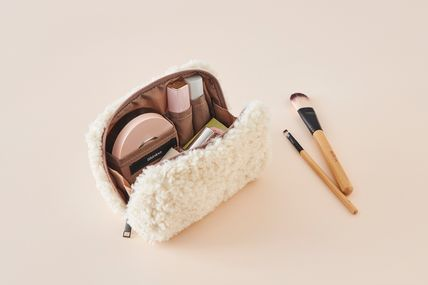 ithinkso メイクポーチ 【ithinkso】BELL MAKE-UP POUCH★モコモコボア/追跡付(5)