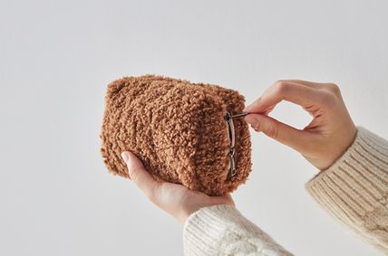 ithinkso メイクポーチ 【ithinkso】BELL MAKE-UP POUCH★モコモコボア/追跡付(6)
