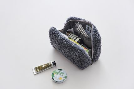 ithinkso メイクポーチ 【ithinkso】BELL MAKE-UP POUCH★モコモコボア/追跡付(8)
