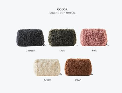 ithinkso メイクポーチ 【ithinkso】BELL MAKE-UP POUCH★モコモコボア/追跡付(12)