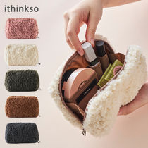 【ithinkso】BELL MAKE-UP POUCH★モコモコボア/追跡付