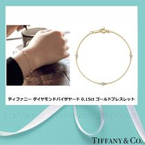 [Tiffany] Diamond By the Yard 0.15ct 18Kゴールドブレスレット
