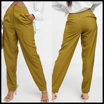 ASOS DESIGN pleated balloon trouser in olive