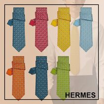 HERMES☆Concours Hippique ネクタイ☆シルクツイル