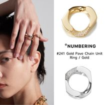 【NUMBERING】#241 Gold Pave Chain Unit Ring ★BTS JIMIN★