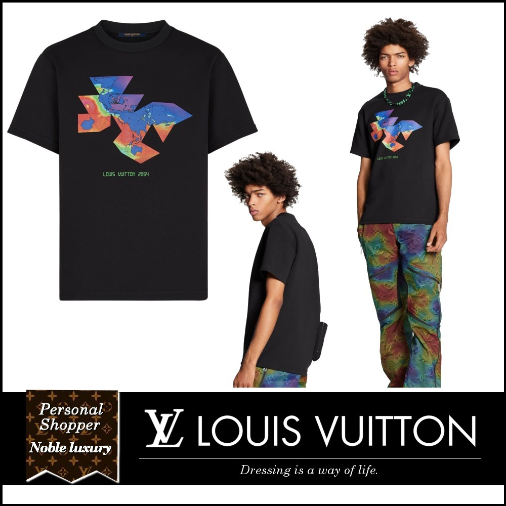 2021SS 新作 LOUIS VUITTON グラフィック プリント Tシャツ 2054 (Louis Vuitton/Tシャツ・カットソー) 62744262