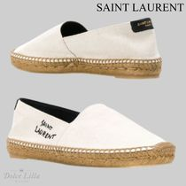 SAINT LAURENT  ESPADRILLAS SIGNATURE IN COTONE
