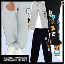 ★I AM NOT A HUMAN BEING★LOGOED PATCHWORK SWEAT PANT.S★