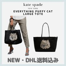 KATE SPADE☆Everything Puffy Cat Large Tote☆DHL送料込