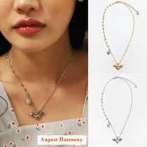 【August Harmony】Flying heart necklace (silver/gold)