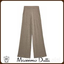 MassimoDutti♪TOTAL LOOK RELAXED KNIT TROUSERS