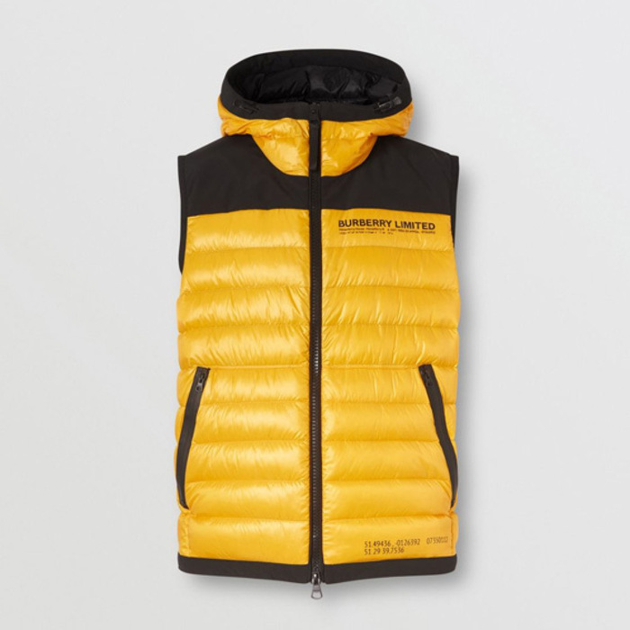 Burberry Hooded Location Print ダウンベスト (Burberry/ダウンベスト) 8033700