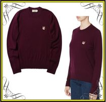 【MAISON KITSUNE】Fox head patch sweaterメゾンキツネセーター