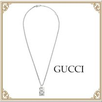 GUCCI☆ ペンダント 長方形 925Silver GucciGhost ネックレス