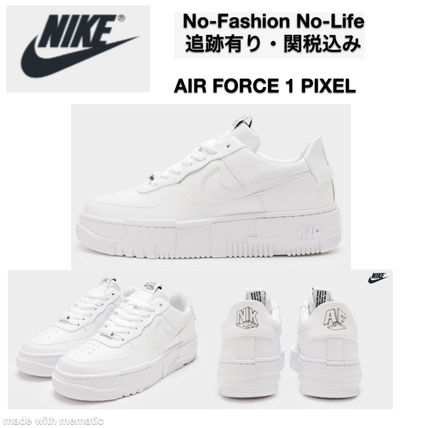 追関込★NIKE★ 厚底  Air Force 1 Pixel Women's
