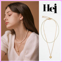 【Hei】heart & pearl set necklace〜ネックレス2連セット