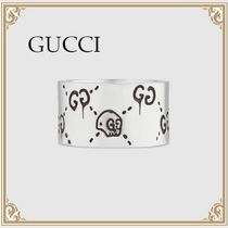 GUCCI☆ GucciGhost GGロゴ入り 925スターリングSilver リング