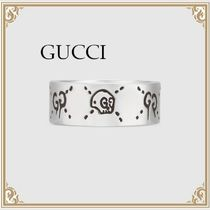 GUCCI☆GucciGhost スカル GGロゴ 925スターリングSilver リング