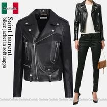 Saint Laurent biker jacket in soft nappa