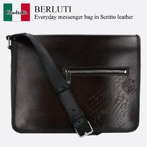 Berluti Everyday messenger bag in Scritto leather