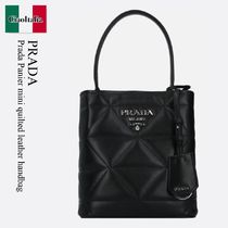 Prada Panier mini quilted leather handbag