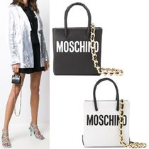 【Moschino】Mini Logo Print Crossbody Tote Bag