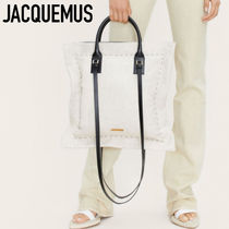 2021SS【JACQUEMUS】Le coussin パフバッグ コットン ロゴ