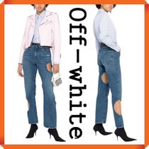 Off-White[New Season]  cut-out baggy jeans
